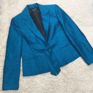 Kasper Solid Blue Teal Business Blazer Jacket
